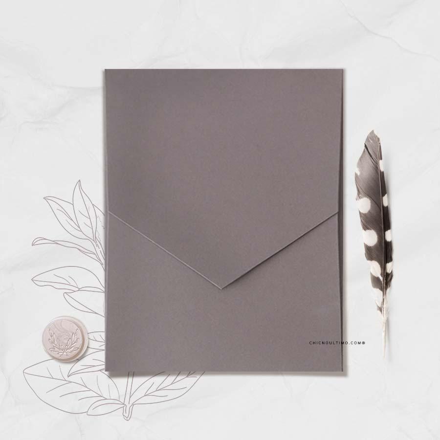 Envelope Chumbo 240g - Geométrico M 16,3x20cm