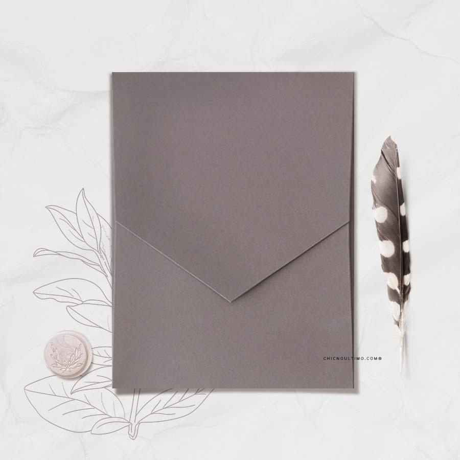 Envelope Chumbo - Geométrico M 16,3x20cm