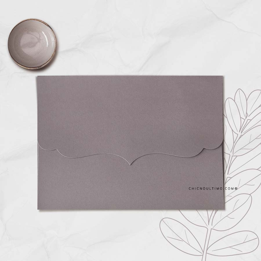 Envelope Chumbo - Vintage P 20x14,5cm