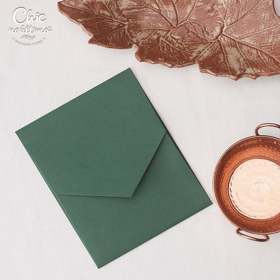 Envelope Verde 240g - Geométrico M 16,3x20cm