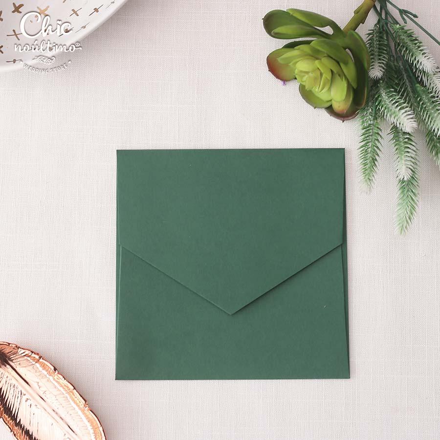 Envelope Verde - Quadrado M 17x17cm