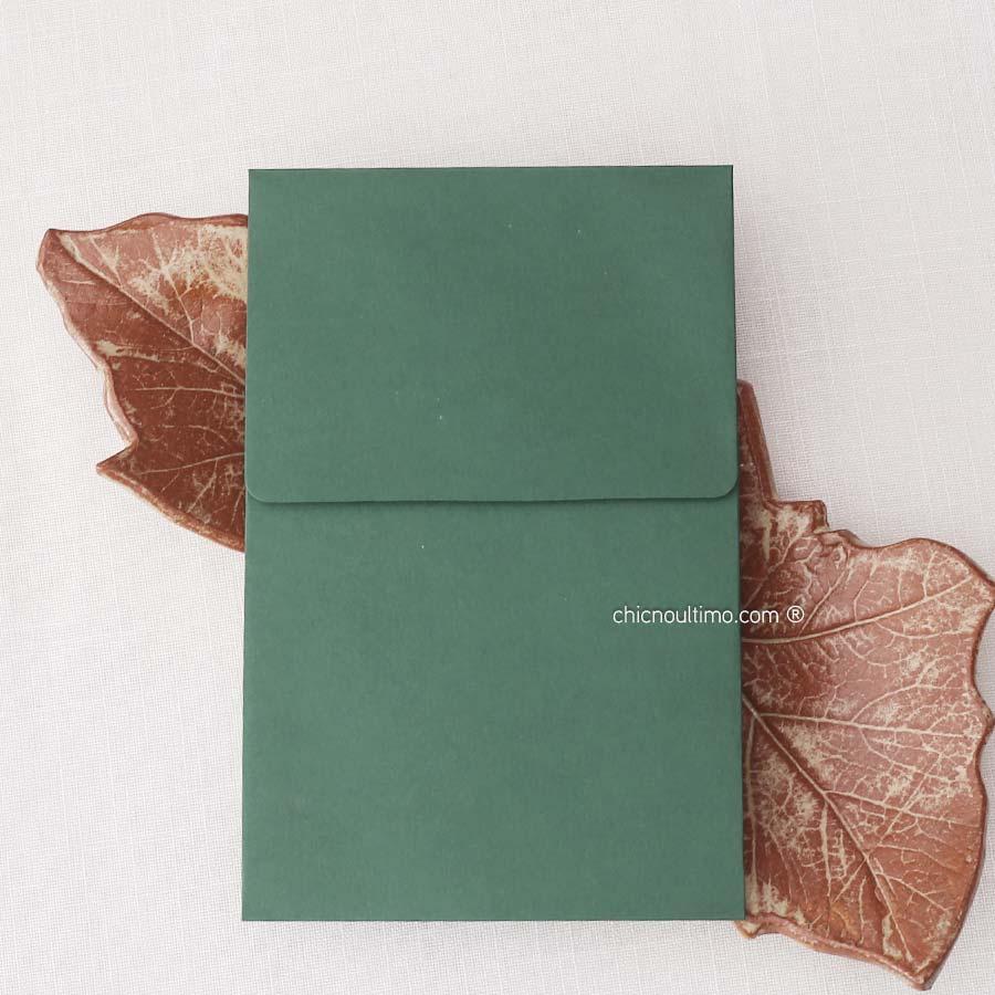 Envelope Verde - Vertical P 13x20cm