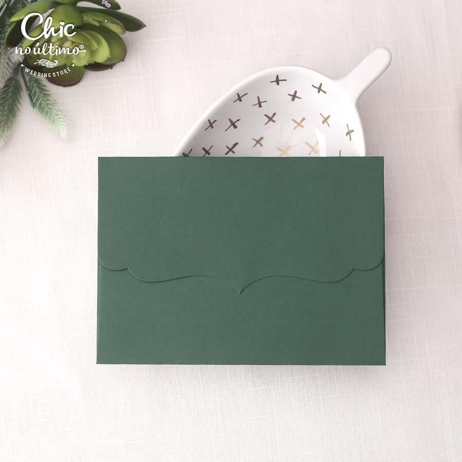 Envelope Verde - Vintage P 20x14,5cm