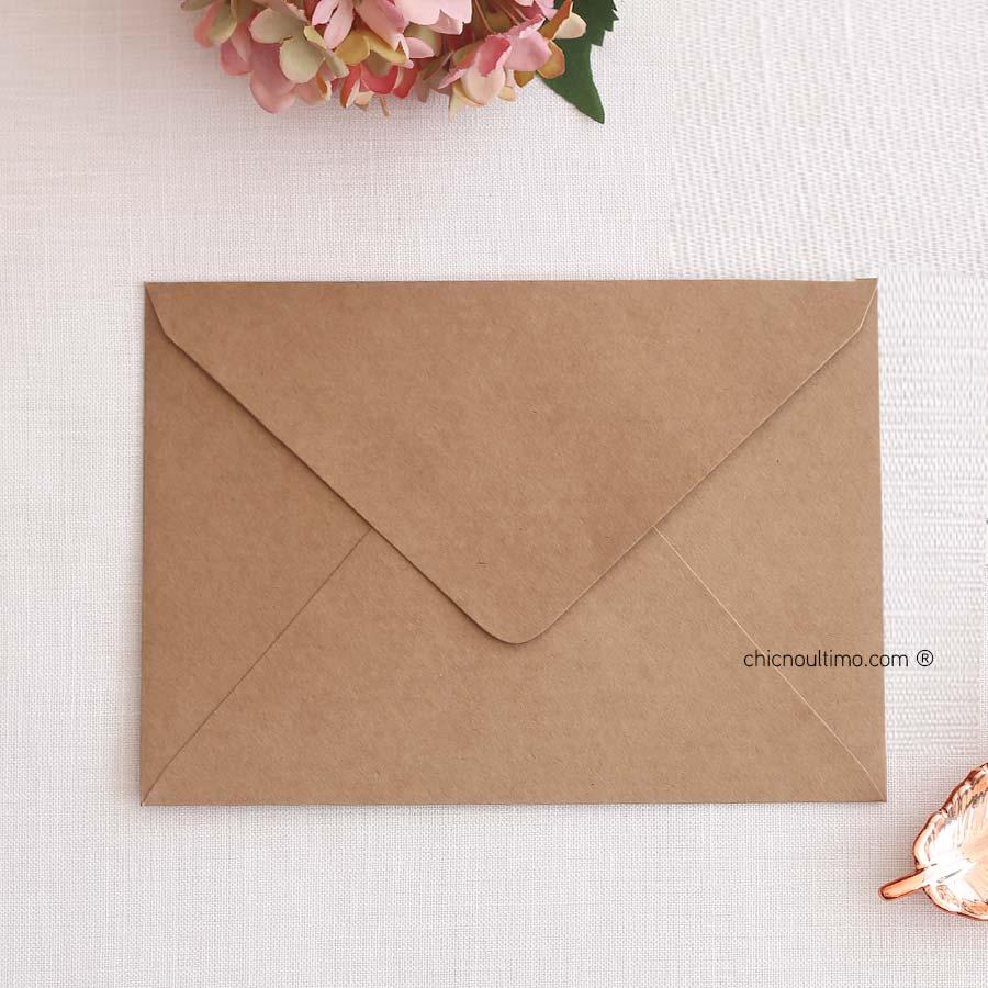 Envelope Kraft - Carta M 22x15,5cm