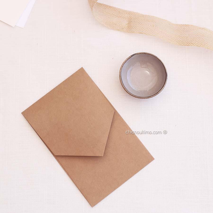 Envelope Kraft - Geométrico P 13x20cm