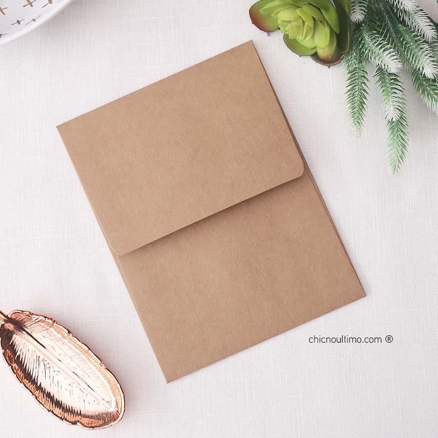 Envelope Kraft - Vertical M 16,5x21,5cm