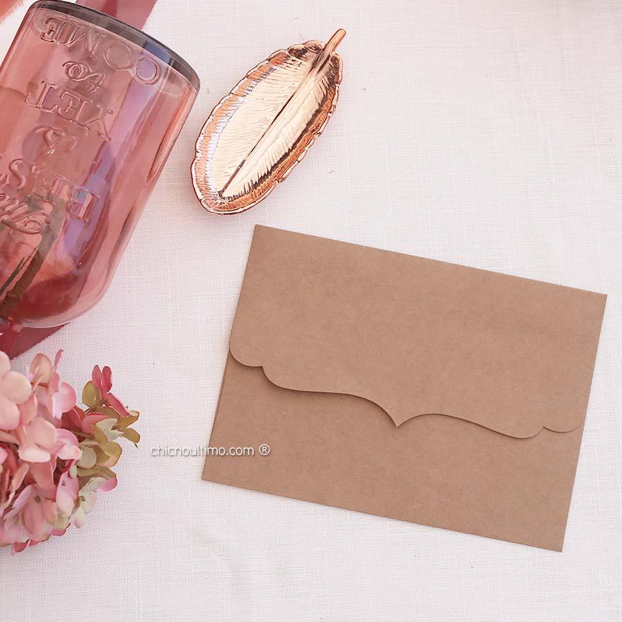 Envelope Kraft - Vintage P 20x14,5cm