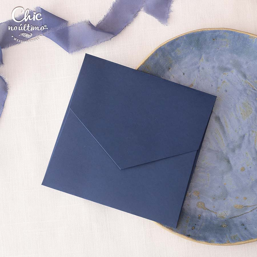 Envelope Navy - Quadrado M 17x17cm