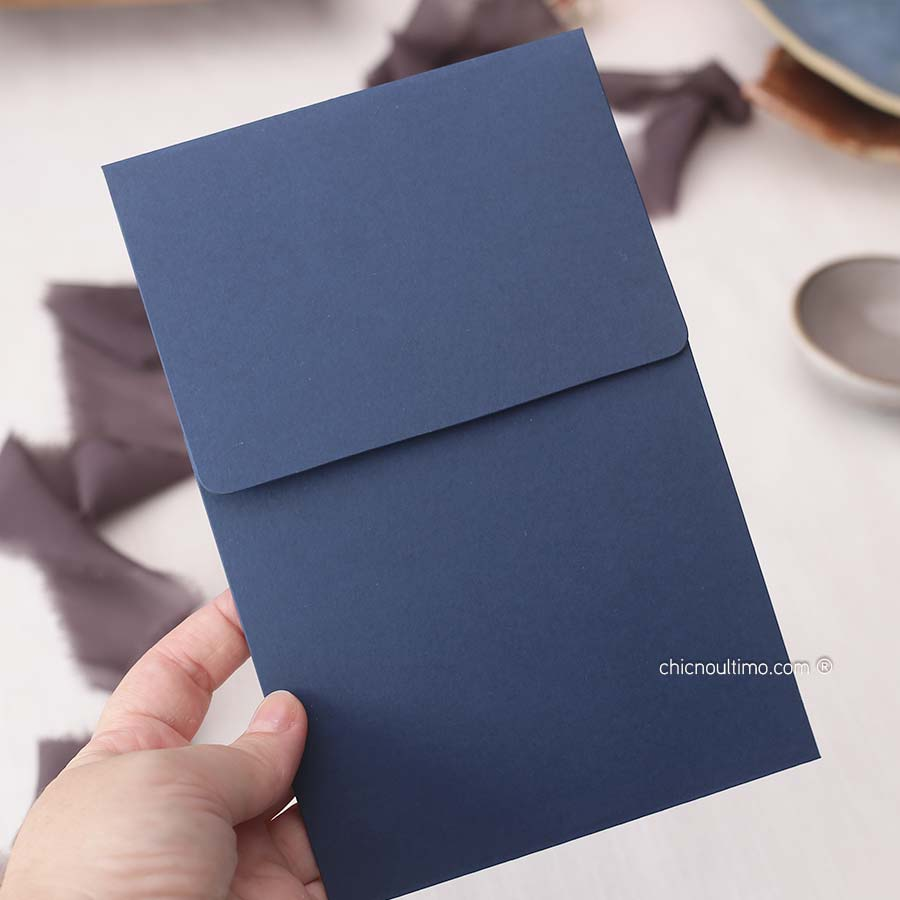 Envelope Navy 240g- Vertical P 13x20cm