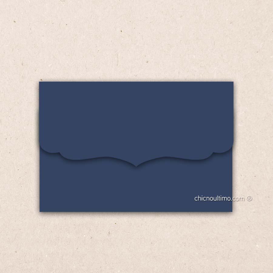 Envelope Navy - Vintage M 24x16cm