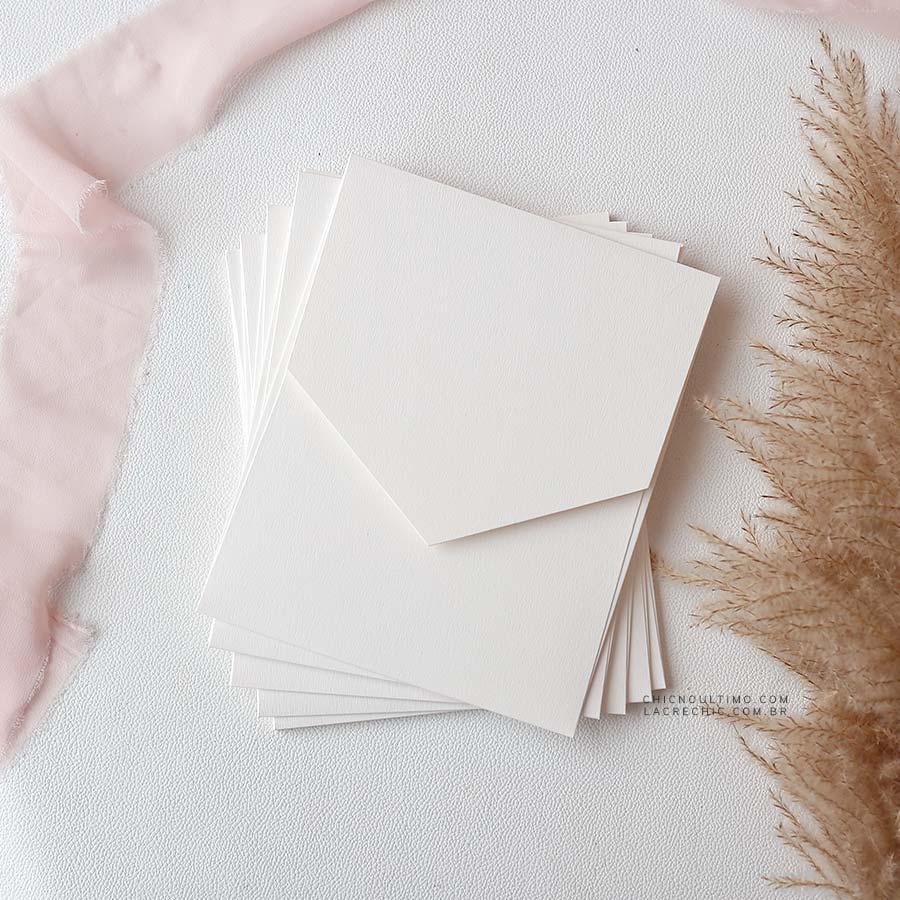 Envelope Offwhite 250g - Geométrico M 16,3x20cm