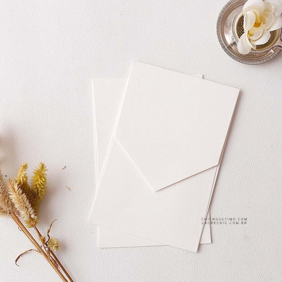 Envelope Offwhite 250g - Geométrico P 13x20cm