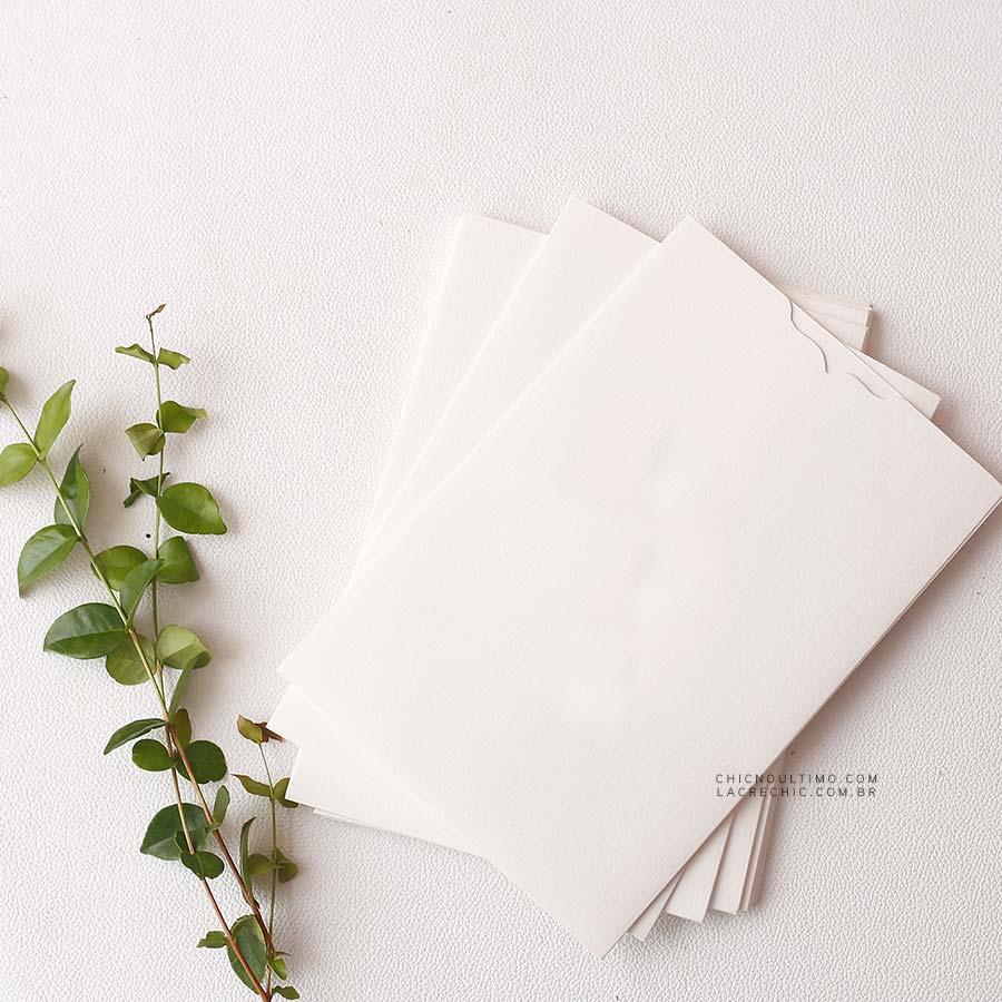 Envelope Offwhite 250g - Luva P 14,5x21cm