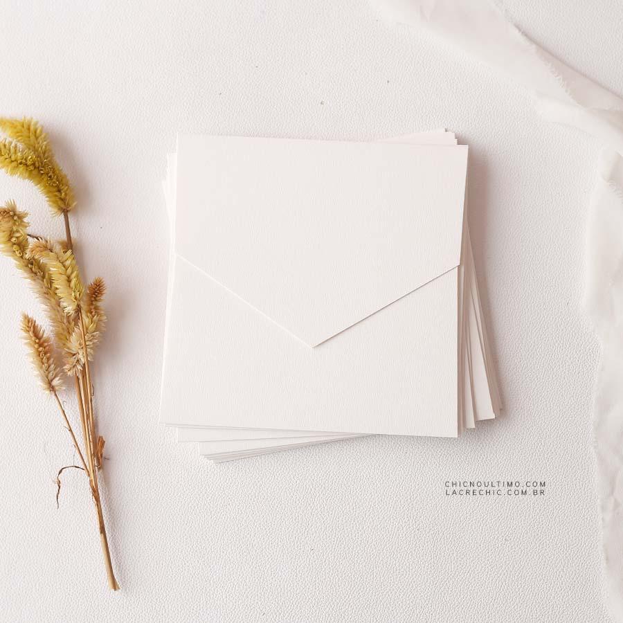 Envelope Offwhite 250g - Quadrado M 17x17cm