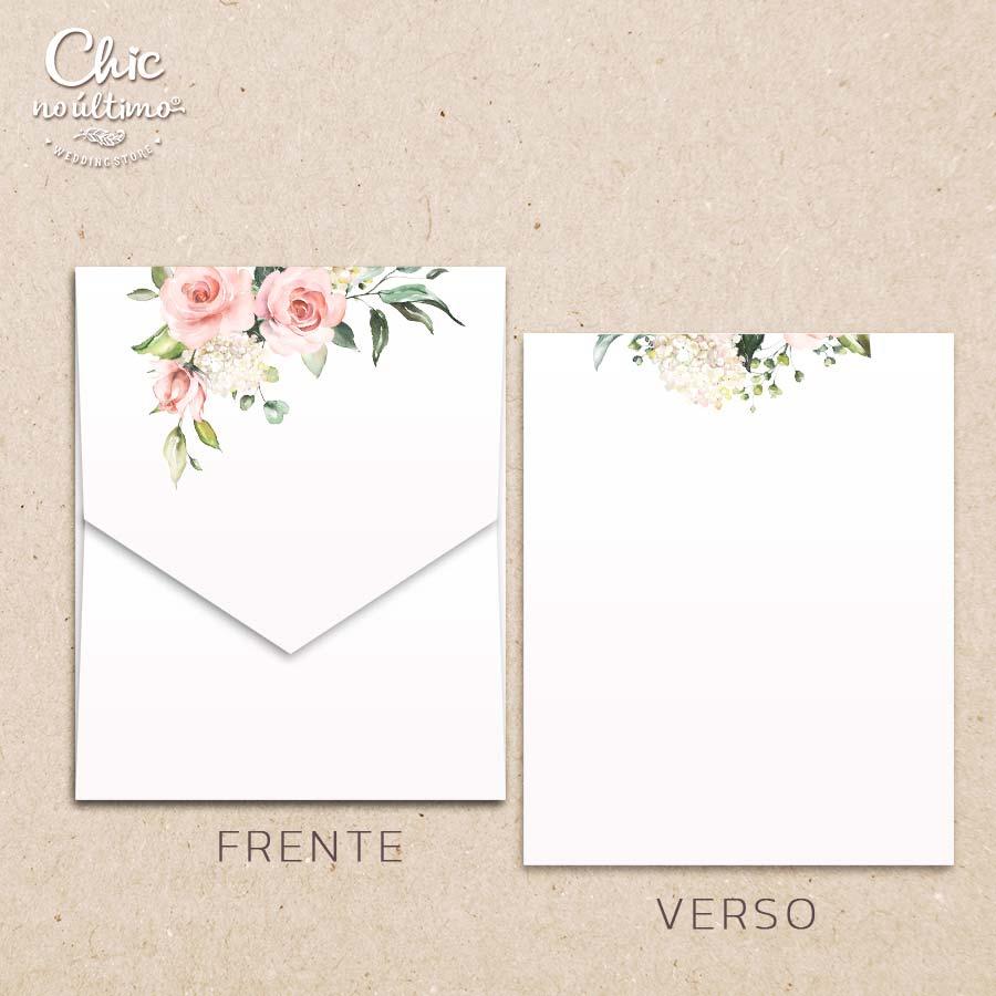 Envelope Offwhite Blush - Geométrico M 16,3x20cm