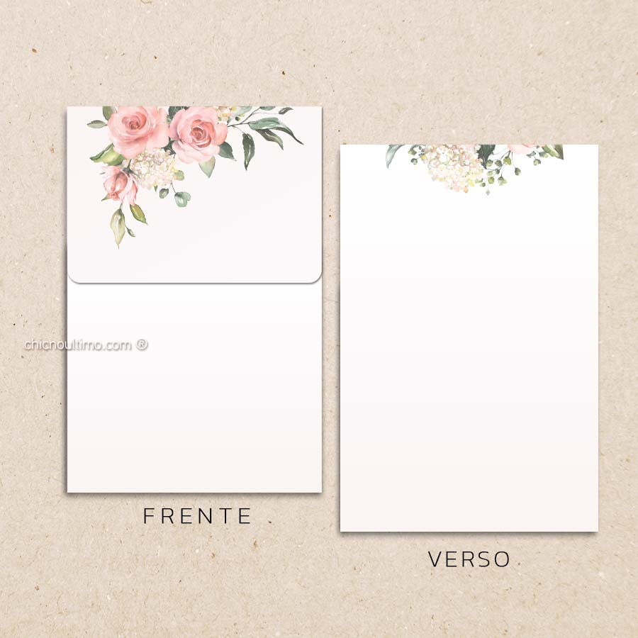 Envelope Offwhite Blush- Vertical P 13x20cm