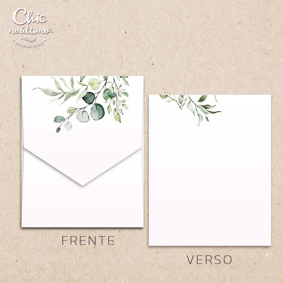 Envelope Offwhite Botânica - Geométrico M 16,3x20cm
