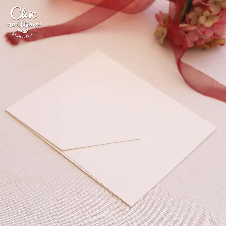 Envelope Offwhite - Geométrico M 16,3x20cm