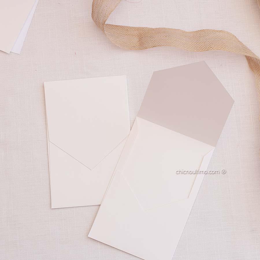 Envelope Offwhite - Geométrico P 13x20cm