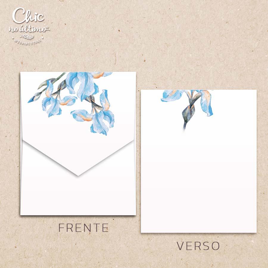 Envelope Offwhite Orquídea - Geométrico M 16,3x20cm