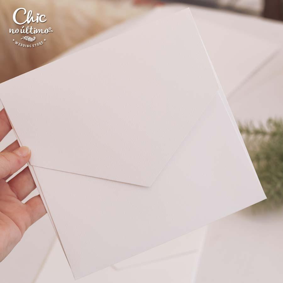 Envelope Offwhite - Quadrado M 17x17cm