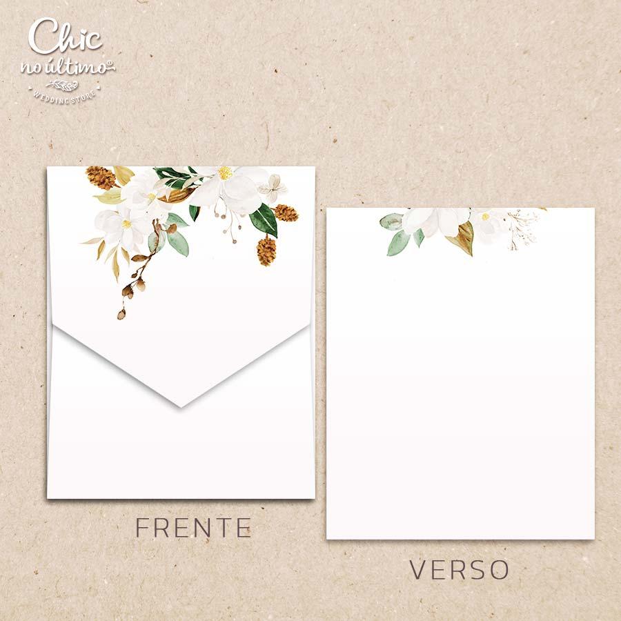 Envelope Offwhite Terracota - Geométrico M 16,3x20cm