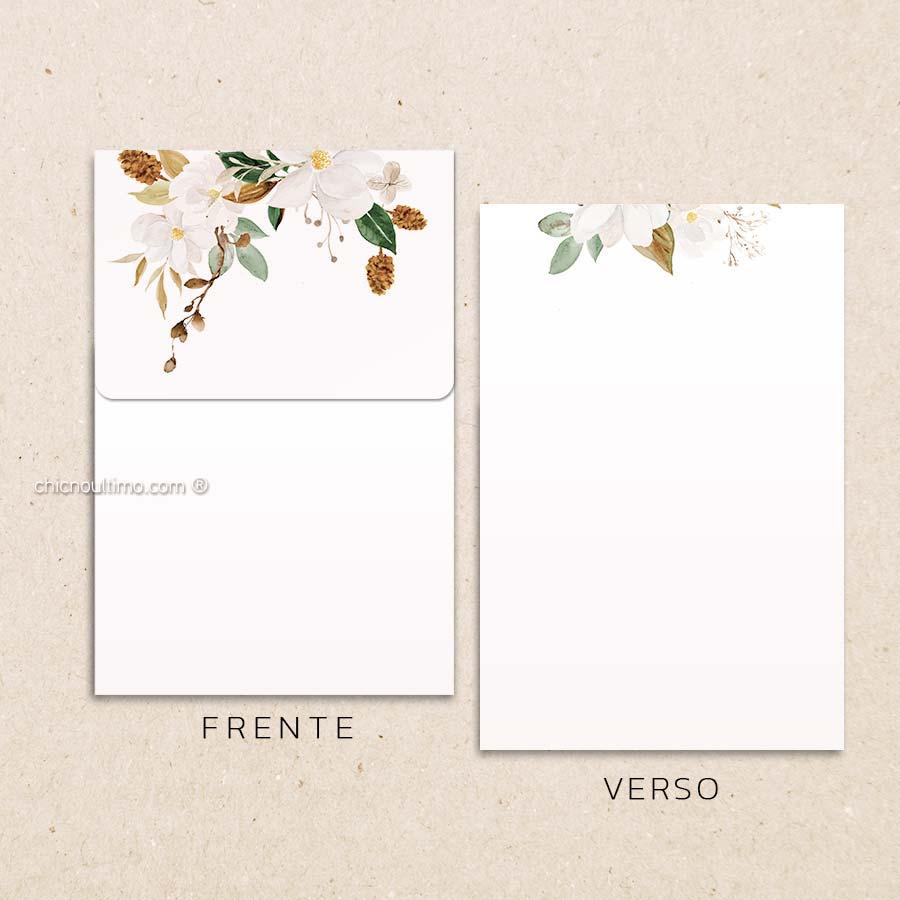 Envelope Offwhite Terracota - Vertical P 13x20cm