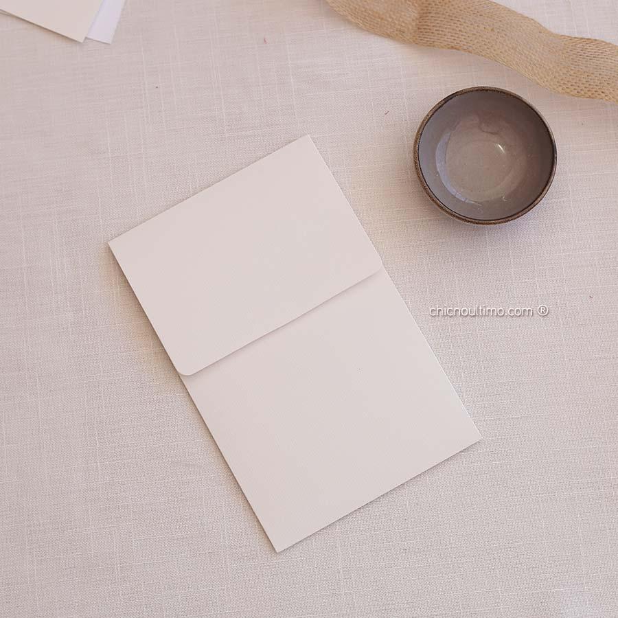 Envelope Offwhite 250g - Vertical P 13x20cm