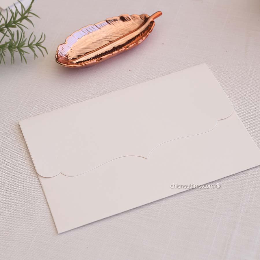 Envelope Offwhite - Vintage P 20x14,5cm