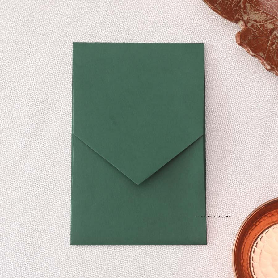 Envelope Verde 240g - Geométrico P 13x20cm