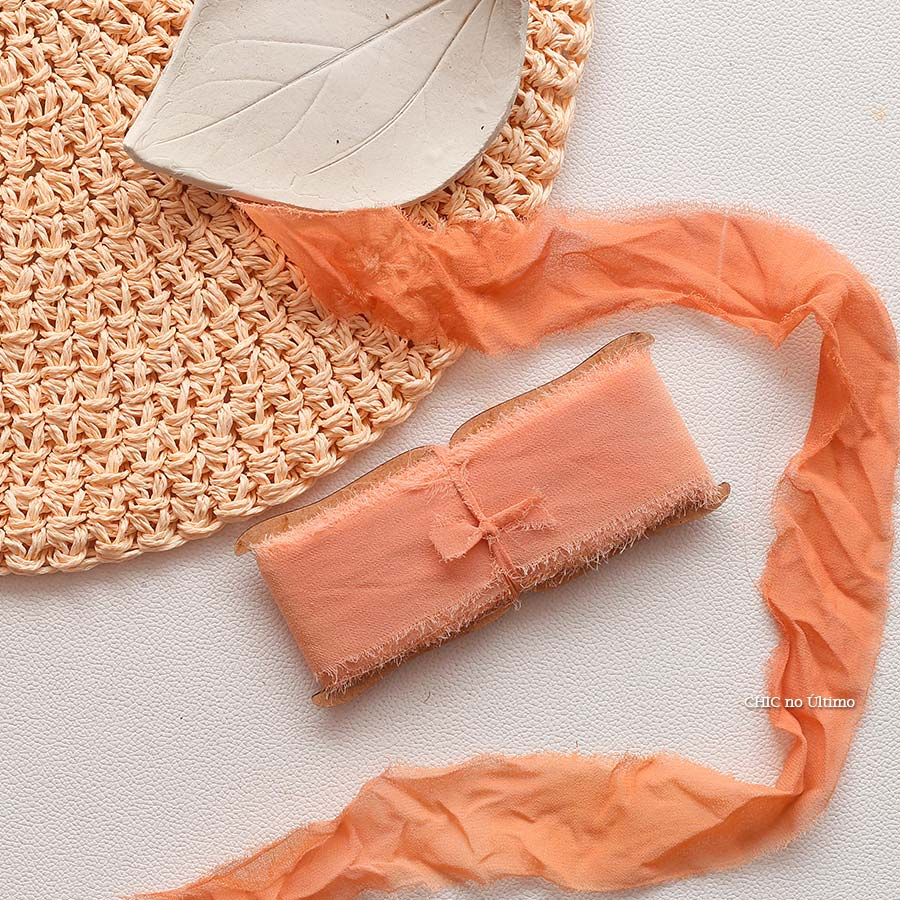 Fita Rústica - cor Terracota - tintura artesanal