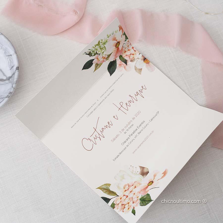 Flor de Sal  | envelopado | convite pronto
