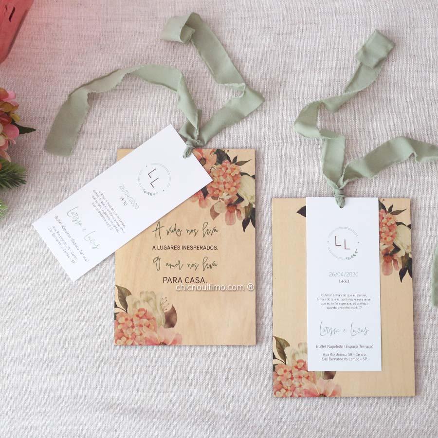 Flor de Sal Tag - Convite de Madeira Quadro