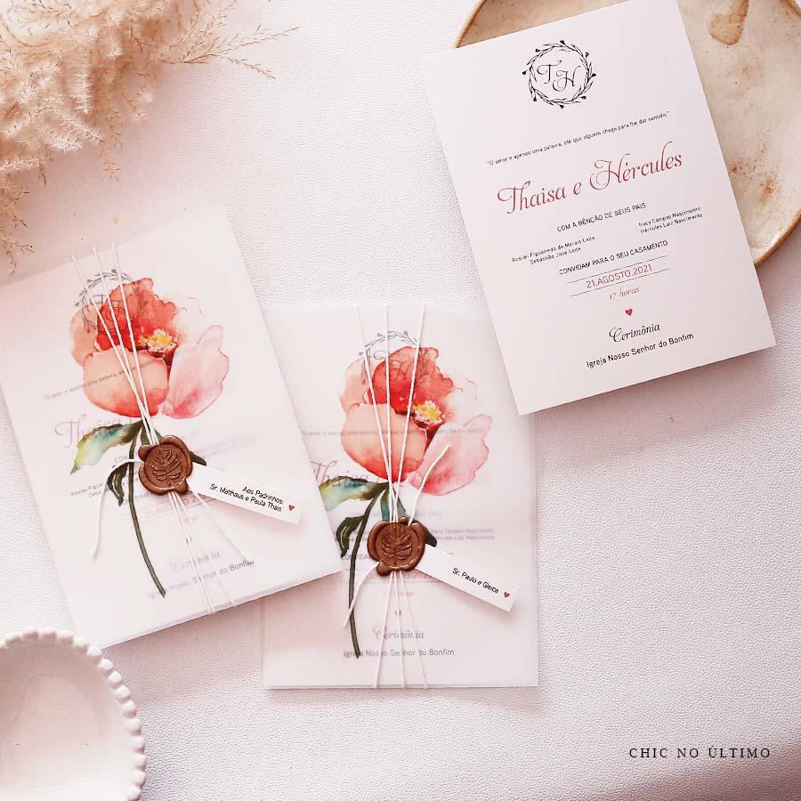 Flor Translúcido - Convite Pronto