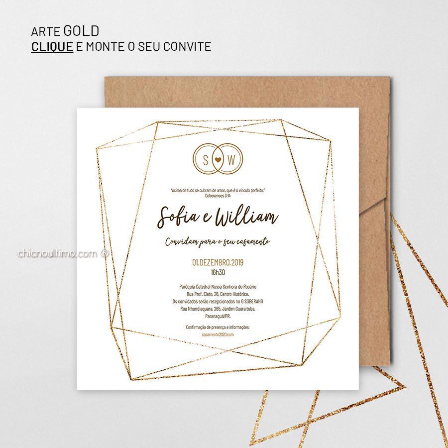 Gold - Convite para montar
