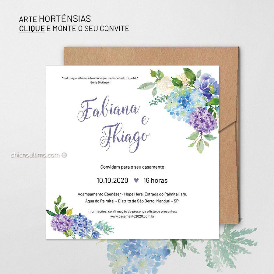 Hortênsias - Convite Base