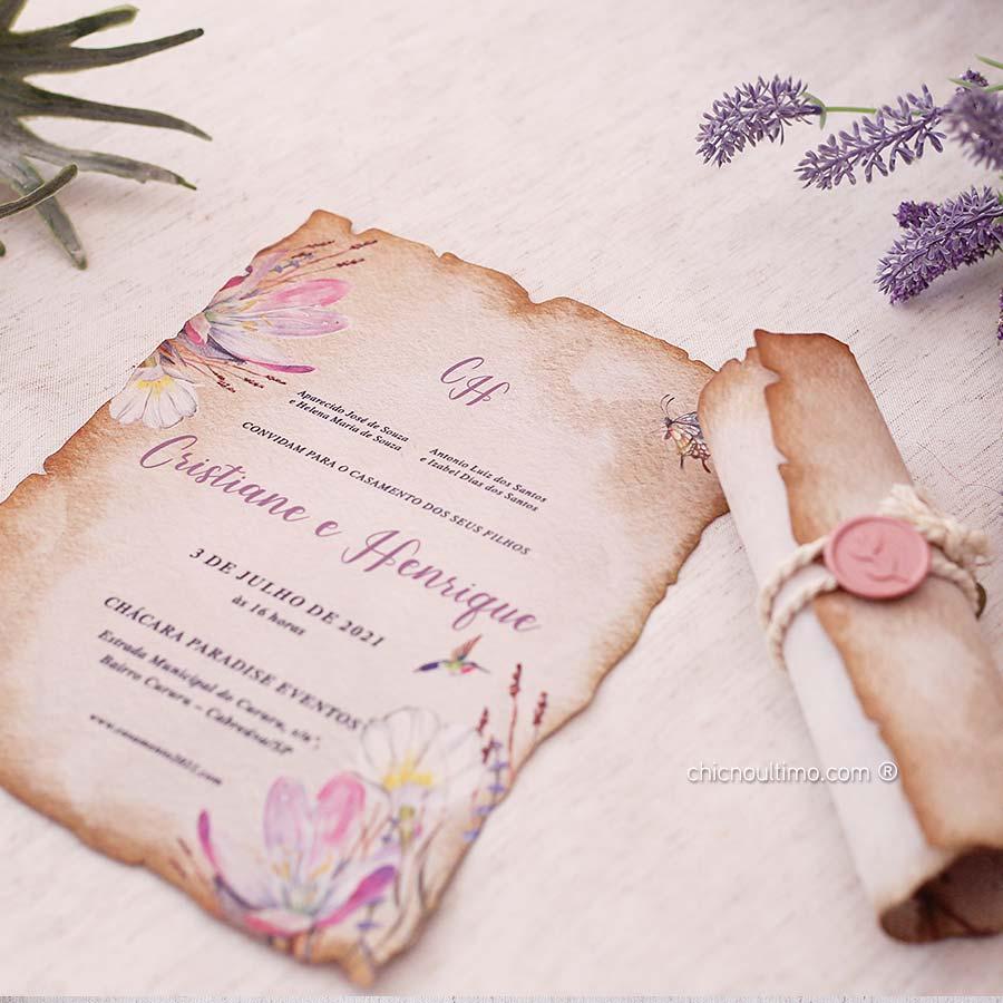 Jardim Pergaminho - Convite Pronto