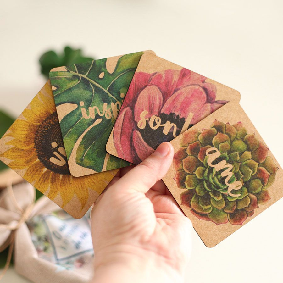 Kit de Porta copos Botânica