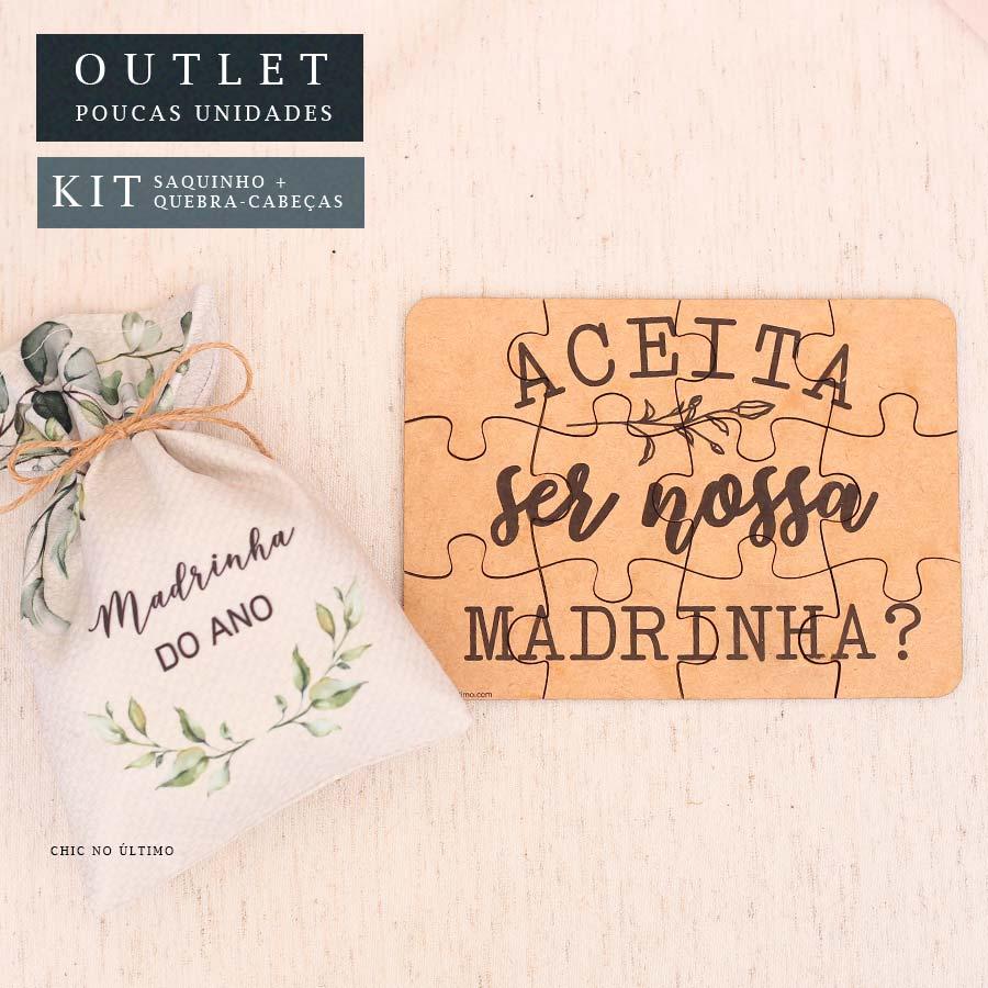 Kit Madrinha | Saquinho + Quebra-cabeças Botânica