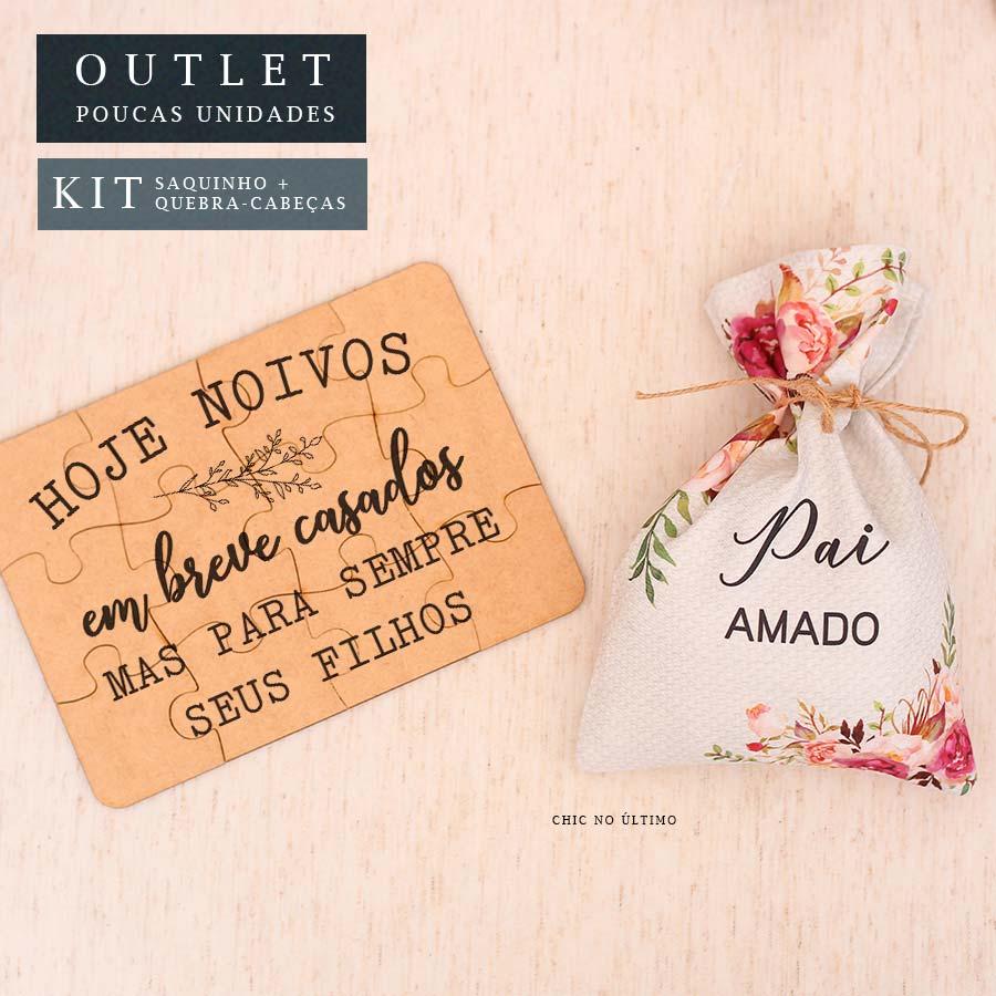 Kit Pai | Saquinho + Quebra-cabeças Romance