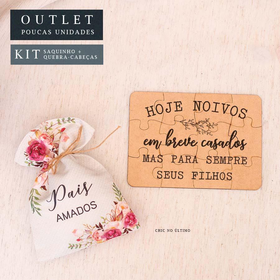 Kit Pais| Saquinho + Quebra-cabeças Romance
