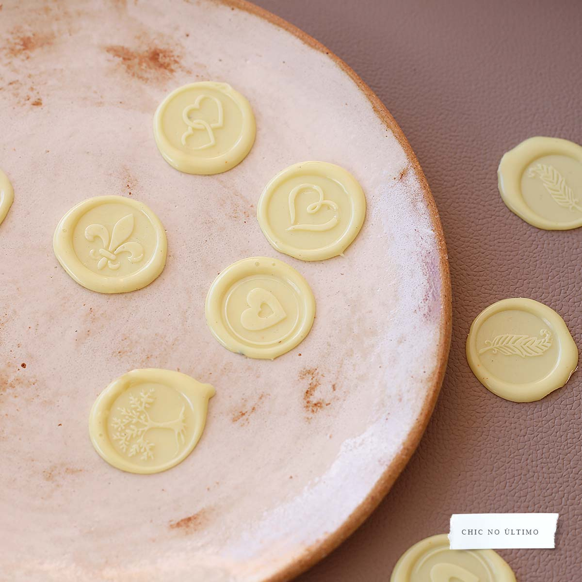 Lacre de Cera Amarelo Claro | modelos diversos | arte padrão