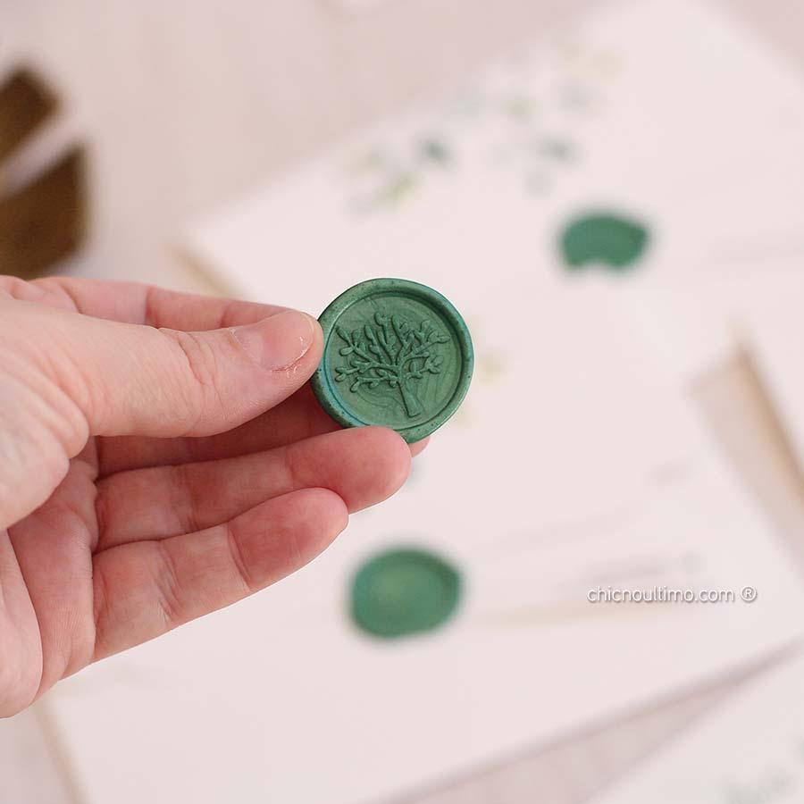 Lacre de Cera Green | modelos diversos | arte padrão