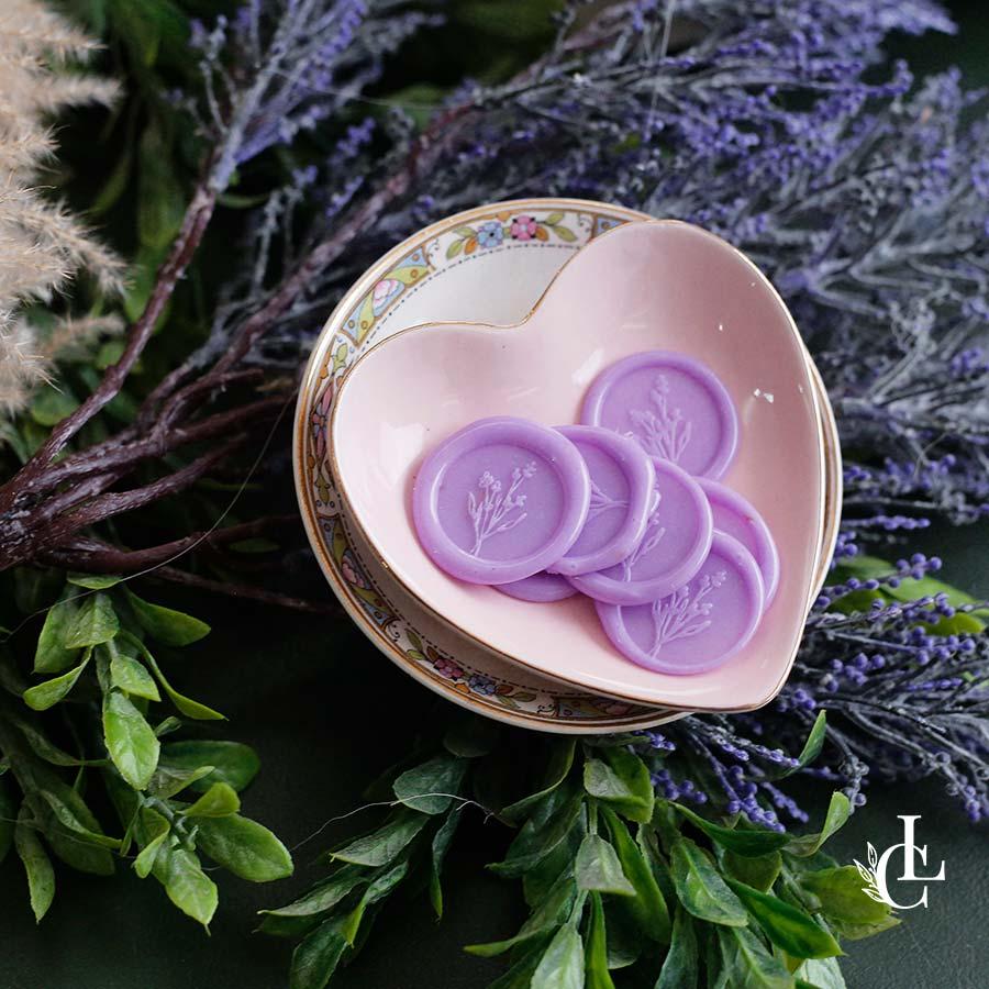 Lacre de Cera Lilás   modelos diversos   arte padrão