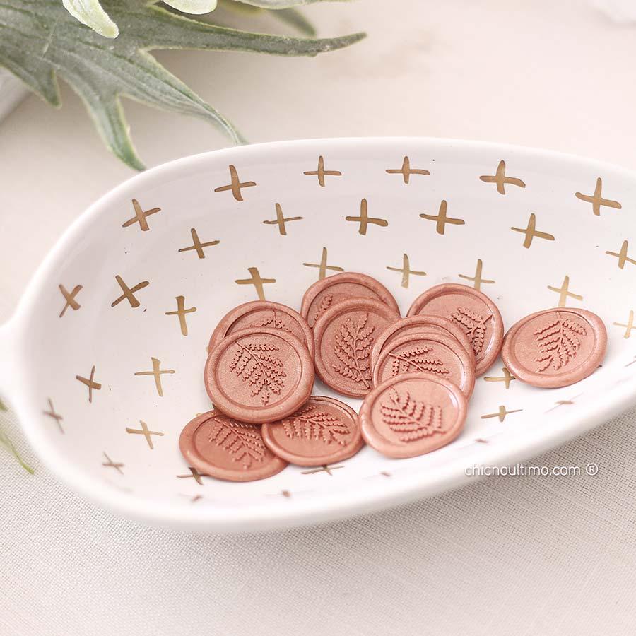 Lacre de Cera Rosé Gold | modelos diversos | arte padrão