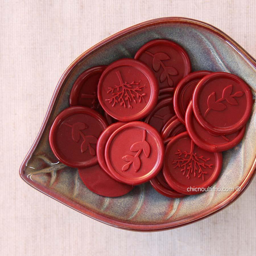 Lacre de Cera Vermelho | modelos diversos | arte padrão