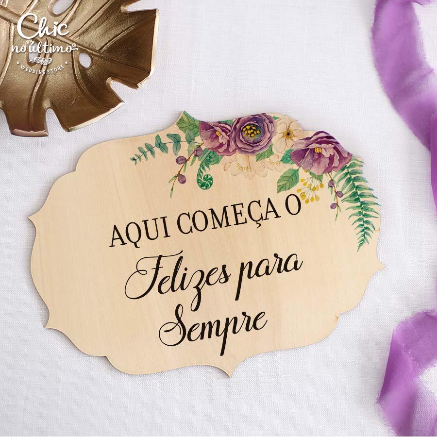 Lilac - Placa Lá vem a noiva