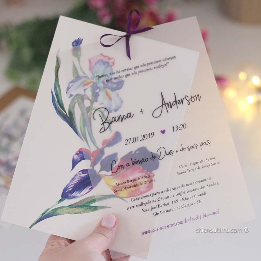Lilac Translúcido | convite pronto