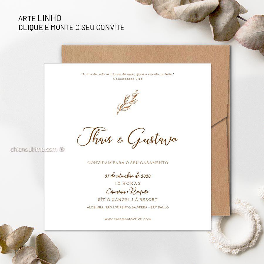 Linho - Convite Base