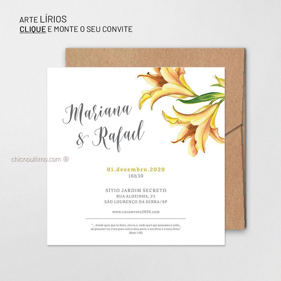 Lírios - Convite Base